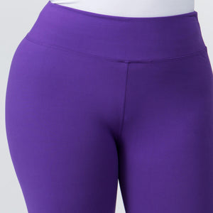 New Mix by New Kathy Ladies Capri Butter Soft Plus Size Leggings 3 in Waist Band