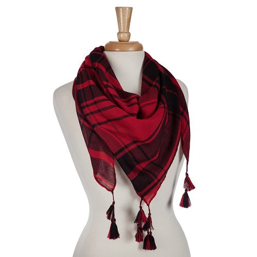 Lightweight Scarf with Tassels - SE Collegiate Gifts