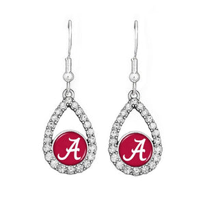 Alabama Teardrop Crystal Earrings - SE Collegiate Gifts