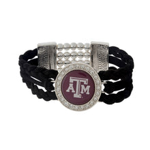 Load image into Gallery viewer, Fashion Logo Braided Suede Stretch Bracelet - SE Collegiate Gifts