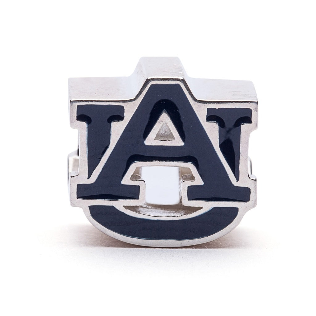 Auburn University Blue AU Logo Bead Charm - SE Collegiate Gifts