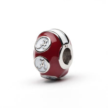 Load image into Gallery viewer, Alabama Crimson with White Bead Charm - SE Collegiate Gifts