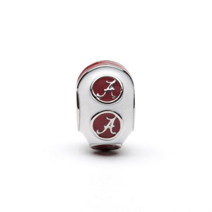 Alabama Crimson with White Bead Charm - SE Collegiate Gifts