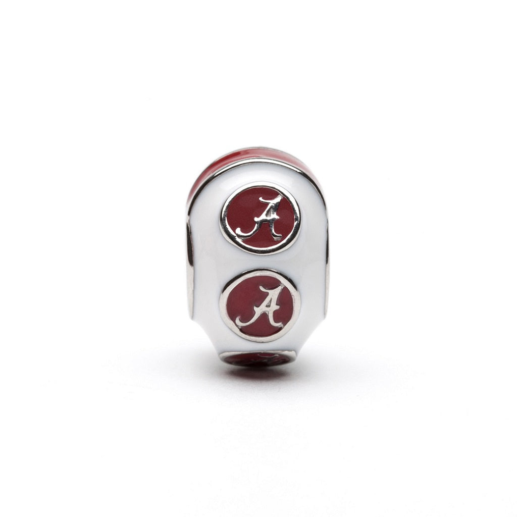 Alabama White with Crimson Bead Charm - SE Collegiate Gifts