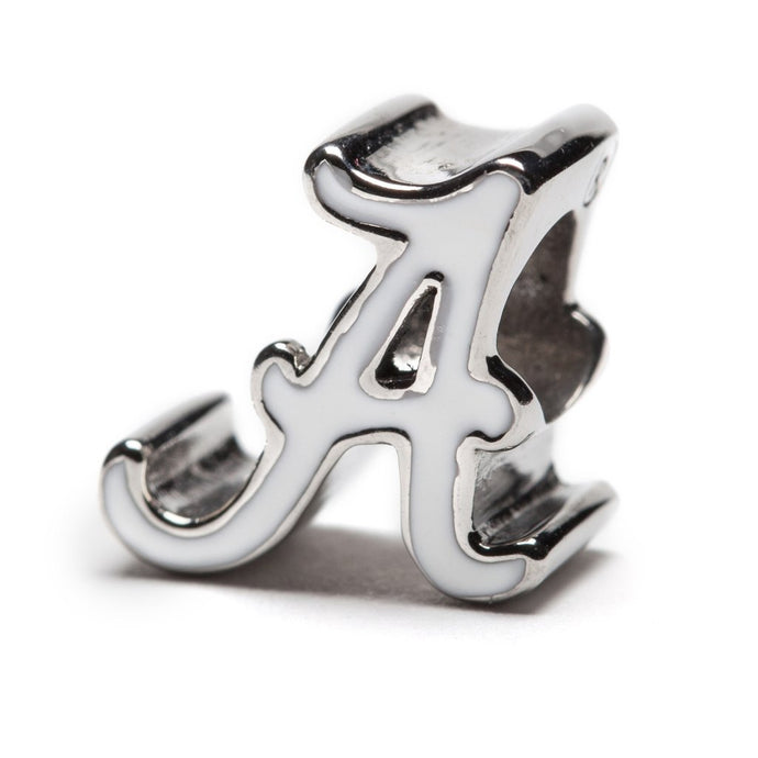 Alabama Crimson Tide White Logo Bead Charm by Stone Armory - SE Collegiate Gifts
