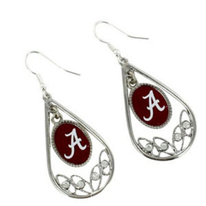 Alabama Teardrop Earrings - SE Collegiate Gifts