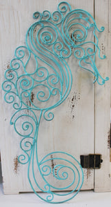 Young's Seahorse Teal Metal Wall Decor, 18.5-Inch
