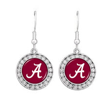 Load image into Gallery viewer, NCAA SEC Team Logo Big Round Rhinestone Earrings for Alabama, Kentucky, Texas - SE Collegiate Gifts