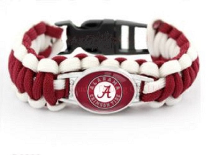 Alabama Paracord Survival EasyHook Bracelet 8.5 in - SE Collegiate Gifts