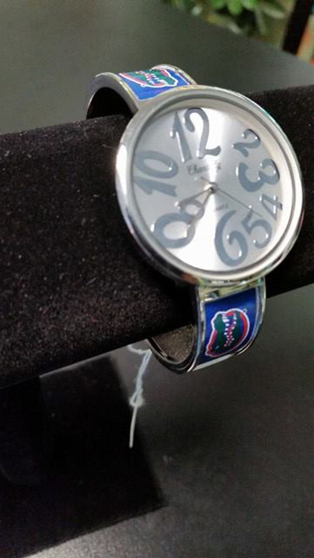 Florida Gators Logo Large Whimsical Face Ladies Cuff Watch - SE Collegiate Gifts