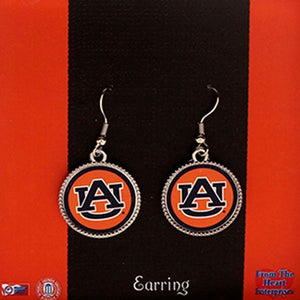Auburn Earrings, Round Logo - SE Collegiate Gifts