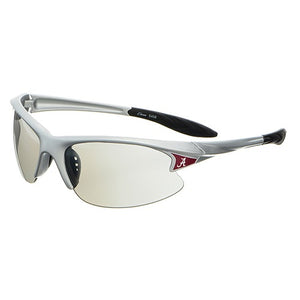Alabama Rimless, Wrap Sunglasses, Color Choices: Crimson, Silver or Gray - SE Collegiate Gifts