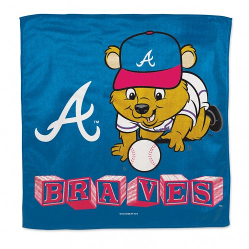 ATLANTA BRAVES / LITTLEST FAN MLB BURP CLOTH - SE Collegiate Gifts