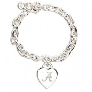 Alabama Heart Charm Bracelet - SE Collegiate Gifts