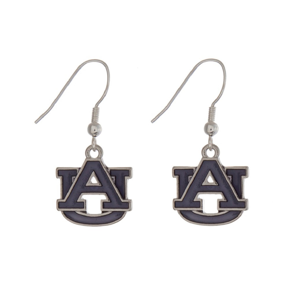 Auburn Tigers Iridescent Logo Earrings - SE Collegiate Gifts