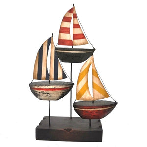 Sailboat Trio, Metal Art - SE Collegiate Gifts