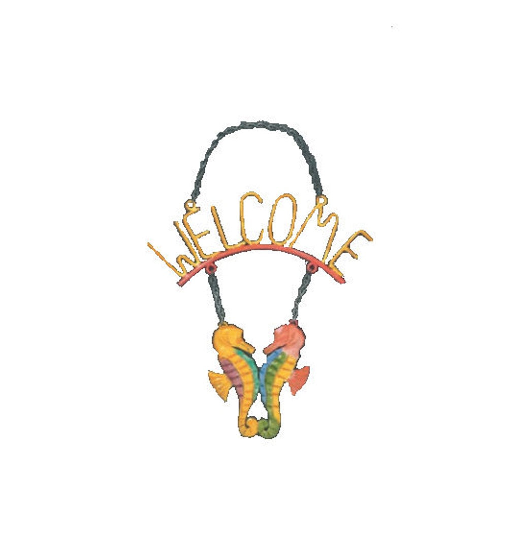 Metal Art | Welcome Sign | Seahorses - SE Collegiate Gifts