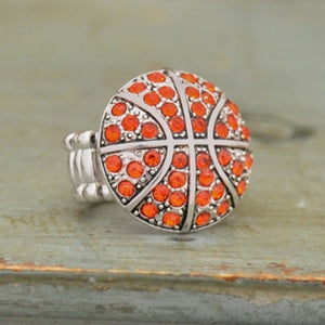 Basketball Stretchy Ring - SE Collegiate Gifts