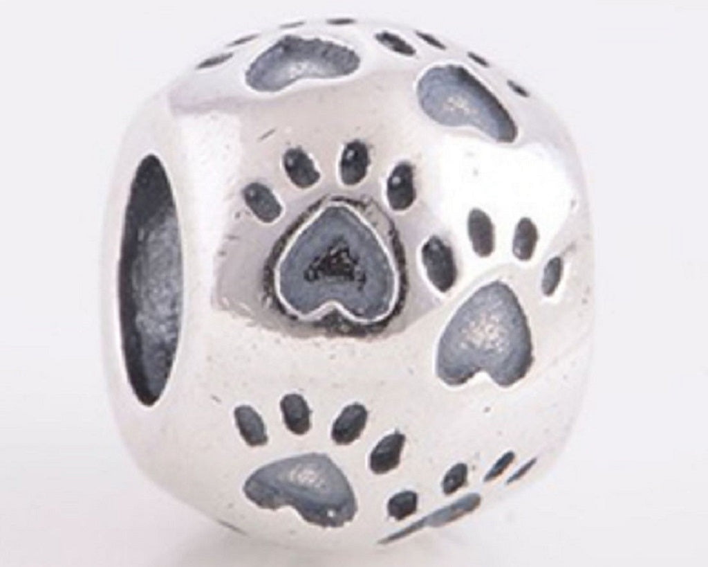 Dog Paw Prints Bead - SE Collegiate Gifts