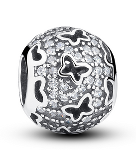CZ Butterfly Bead - SE Collegiate Gifts