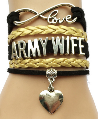 Army Wife Infinity Bracelet - SE Collegiate Gifts