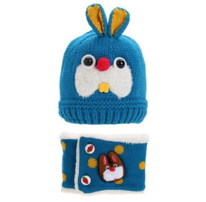 Toddler Bunny Beanie and Scarf