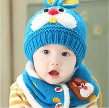 Load image into Gallery viewer, Toddler Bunny Beanie and Scarf
