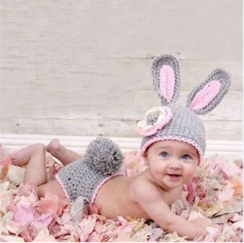Crocheted Baby Bunny Photography Prop, Handmade - SE Collegiate Gifts