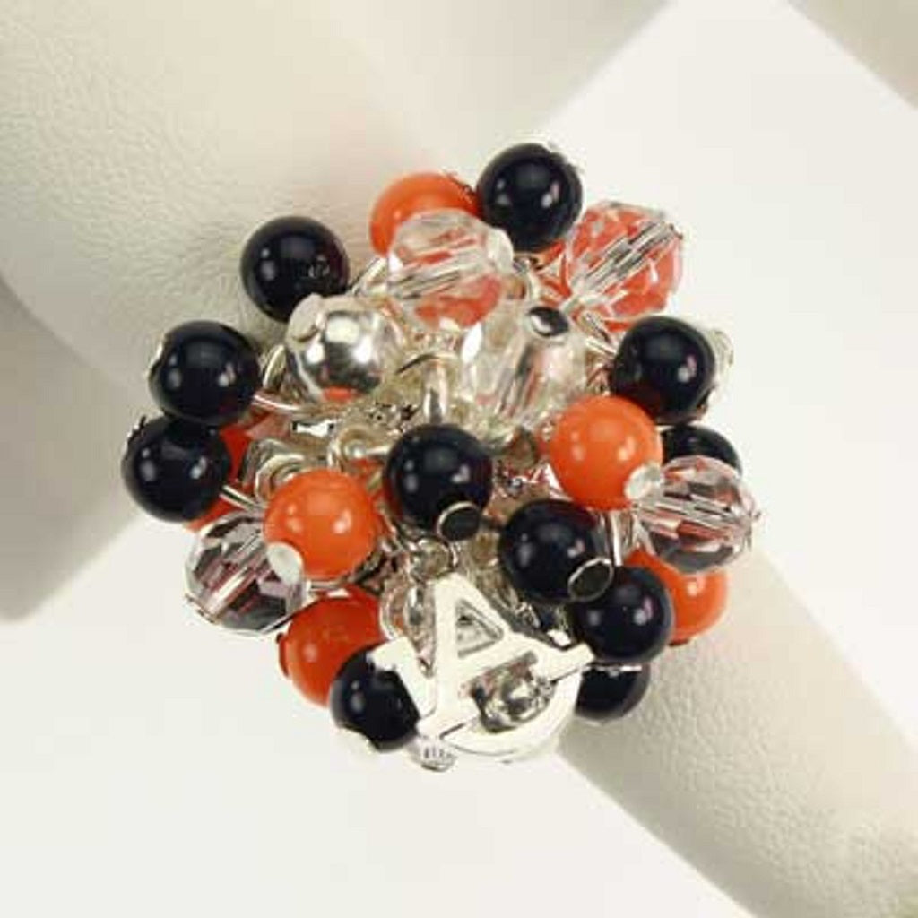 Auburn Bauble Bead Stretch Ring - SE Collegiate Gifts