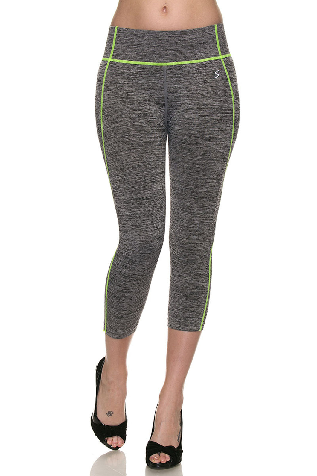 Seamless Active Wear Space Dye Color Stitch Leggings, 2X-3X - SE Collegiate Gifts