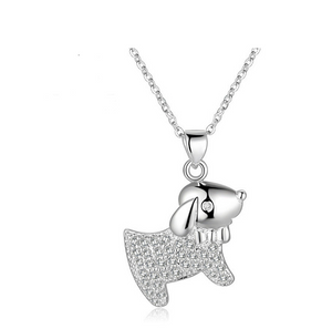 Puppy Dog Cubic Zirconia Necklace - SE Collegiate Gifts