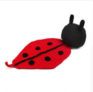 Crocheted Ladybug Baby Blanket with Hat - SE Collegiate Gifts