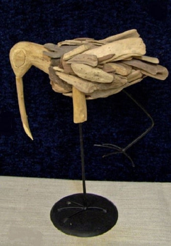 Driftwood Shorebird with Wire Legs - SE Collegiate Gifts