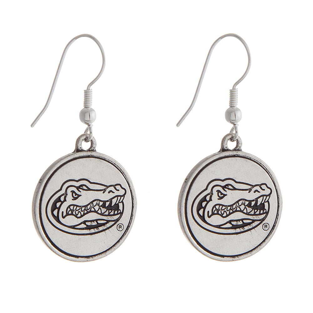 Florida Gators Fishhook Earrings, Round Logo - SE Collegiate Gifts