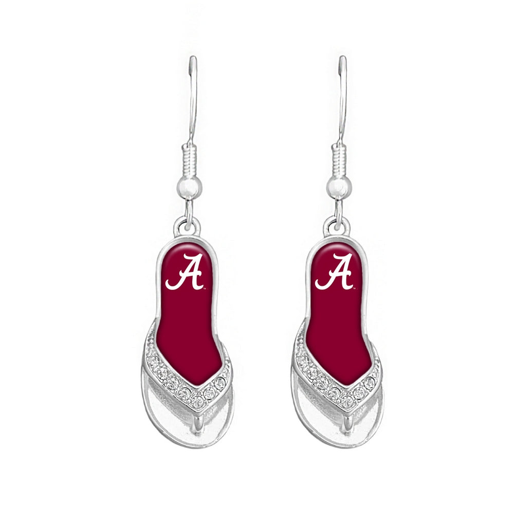 Alabama Crimson Tide Flip Flop Earrings - SE Collegiate Gifts