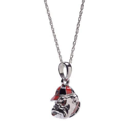 UGA Bulldog Charm Pendant with Necklace Chain
