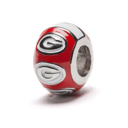 Georgia Bulldogs Round Red Bead Charm - SE Collegiate Gifts