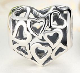 Lil Hearts Bead - SE Collegiate Gifts
