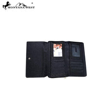 Load image into Gallery viewer, MW587-W010 Montana West Concho Collection Secretary Style Wallet - SE Collegiate Gifts