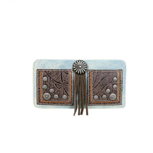 MW587-W010 Montana West Concho Collection Secretary Style Wallet - SE Collegiate Gifts