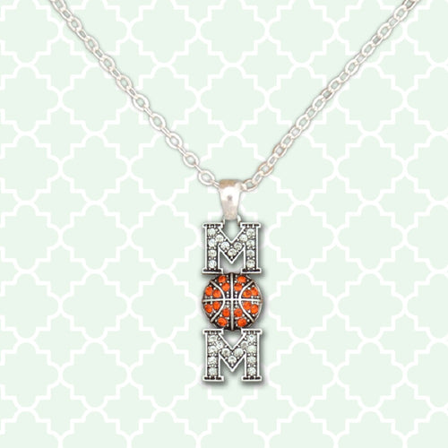 Mom Basketball Necklace - SE Collegiate Gifts