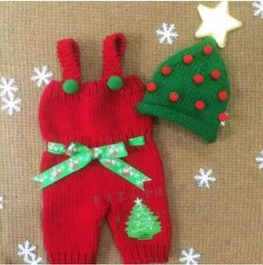 Christmas Baby Overalls with Hat - SE Collegiate Gifts