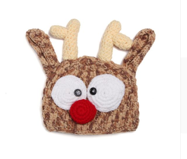 Crocheted Baby Reindeer Hat - SE Collegiate Gifts