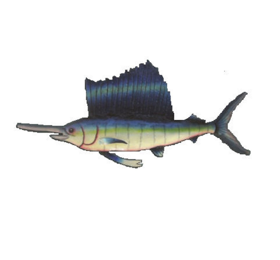 Metal Art | Hand Painted | Sailfish - SE Collegiate Gifts