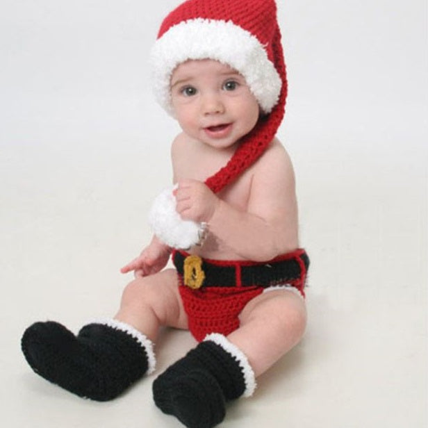 Crocheted Toddler Santa Outfit - SE Collegiate Gifts