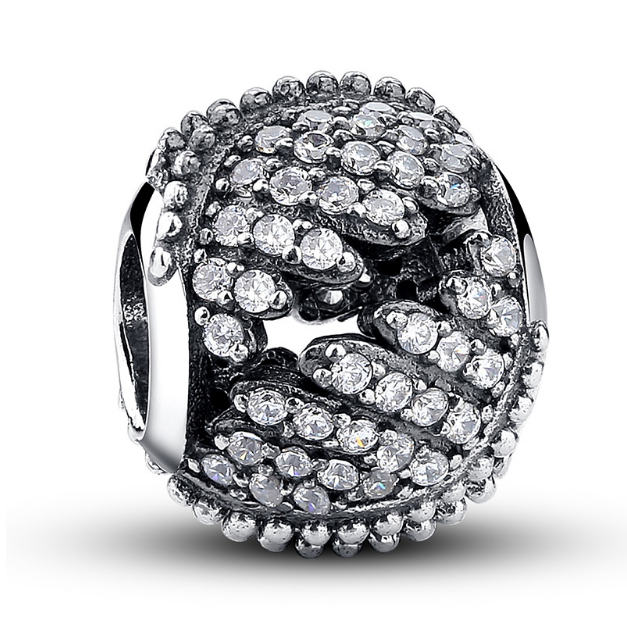 Clear CZ Deco Bead - SE Collegiate Gifts