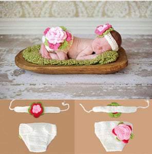 Crocheted Flower Baby Photography Prop, Handmade - SE Collegiate Gifts