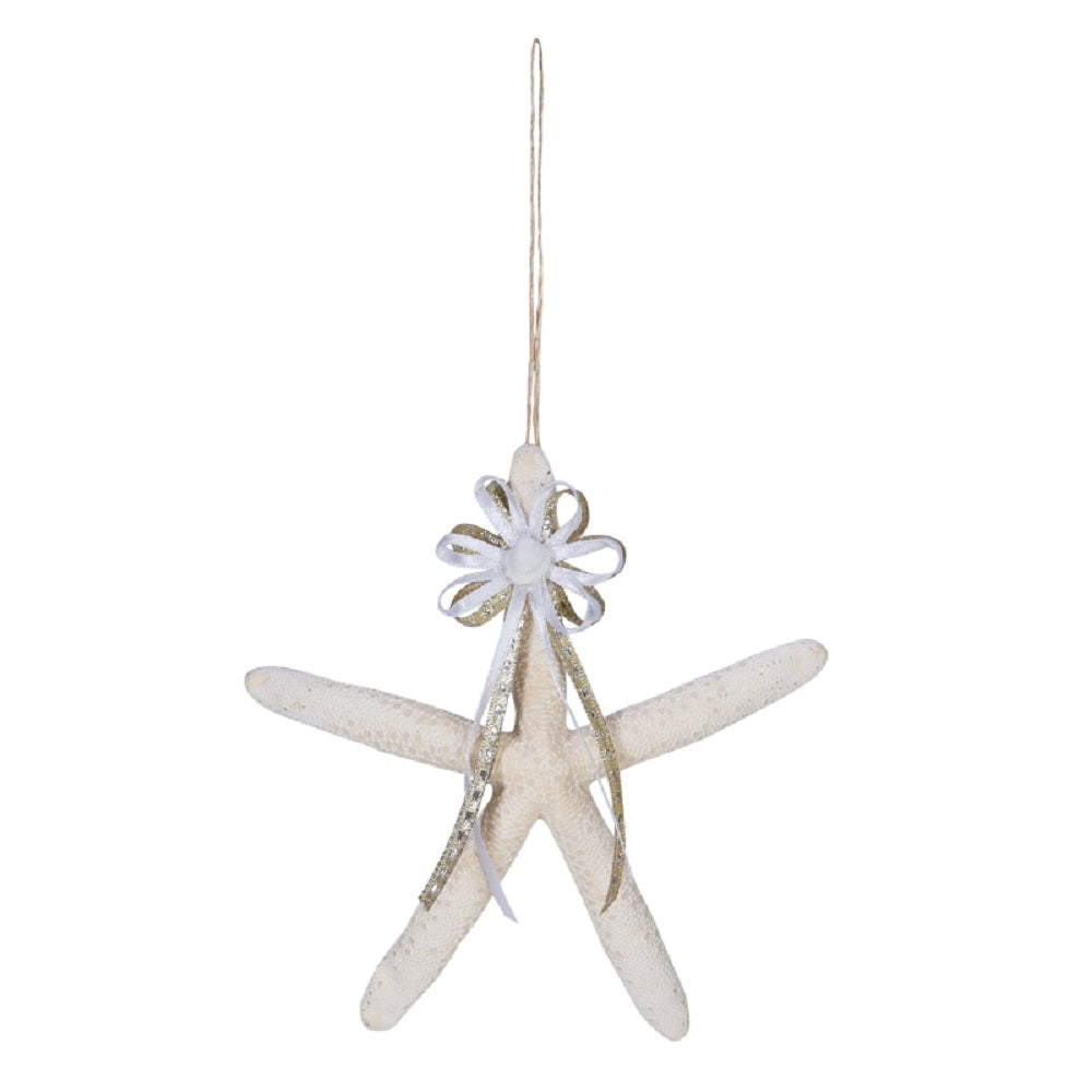 Starfish with Ribbon Ornament