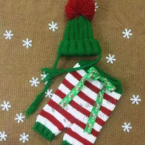 Christmas Baby Striped Pants with Hat - SE Collegiate Gifts