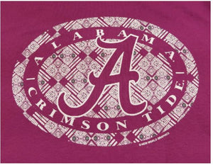 Alabama Crimson Tide Tribal Circle Tee Shirt - SE Collegiate Gifts